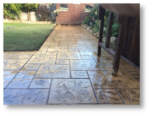 pattern imprinted concrete patios