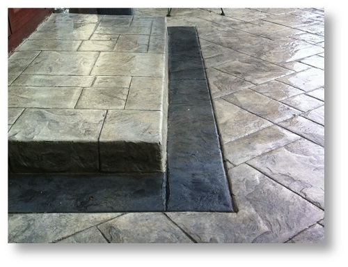 pattern imprinted concrete steps & kerbs